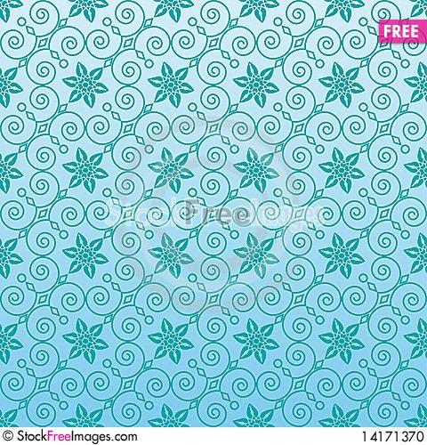 Free Seamless Ornamental Wallpaper Stock Photo - 14171370