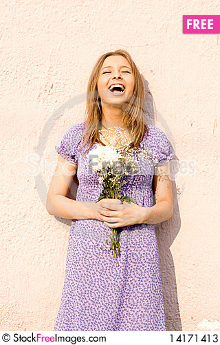 Free Girl With Flowers Stock Photos - 14171413
