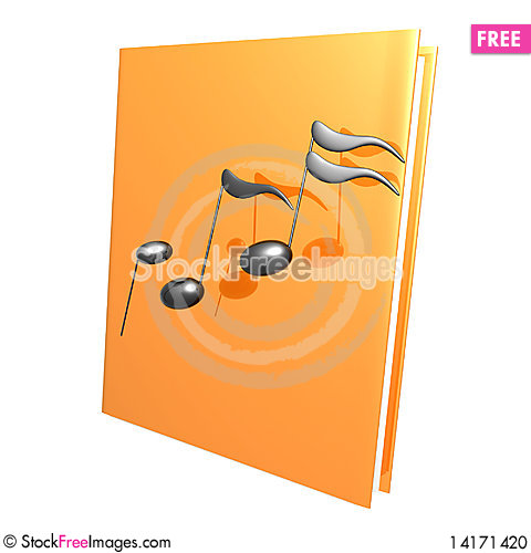 Free Music Notes And Golden Book Reference Icon Stock Photo - 14171420