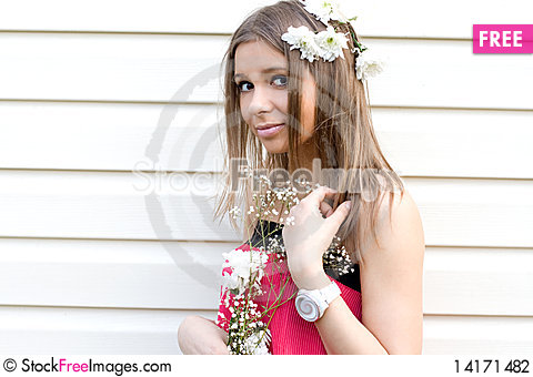Free Girl With Flowers Stock Photography - 14171482