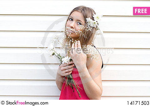 Free Girl With Flowers Stock Photos - 14171503