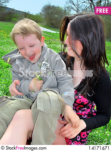 Free Mum And The Son On A Walk Stock Image - 14171671