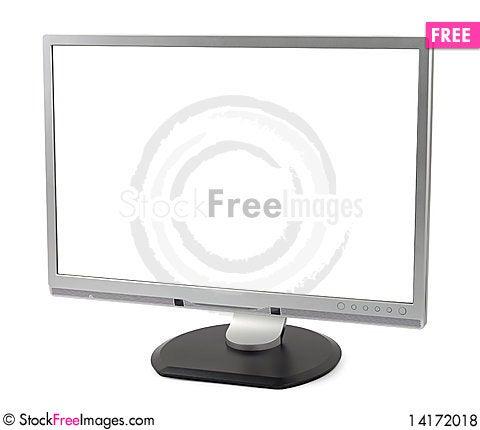 Free Modern Blank Monitor Royalty Free Stock Photos - 14172018