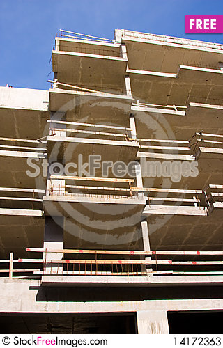 Free Reinforced Steel Structure, Under Construction Stock Photos - 14172363