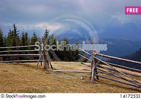 Free Wooden In A Mountain Valley Stock Photos - 14172533