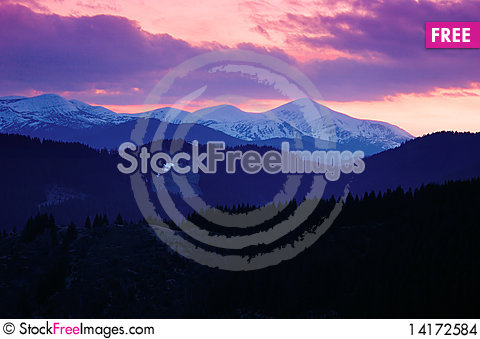Free Dawn In Mountains Stock Images - 14172584