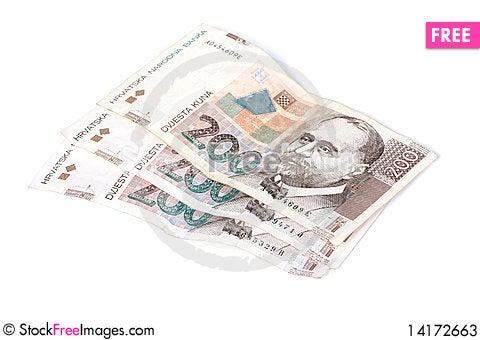 Free Paper Bills Of Croatian Kuna Stock Photos - 14172663