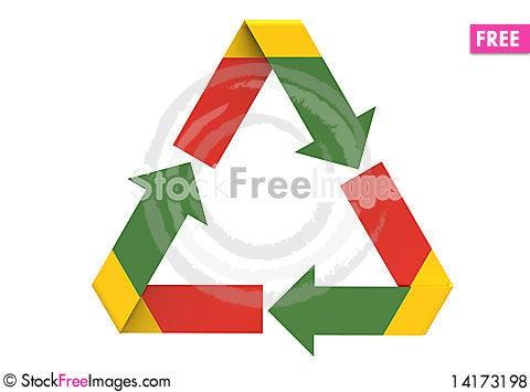 Free Recycling Symbol Royalty Free Stock Photos - 14173198