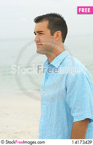 Free Male Model At The Beach Sideh Royalty Free Stock Images - 14173439