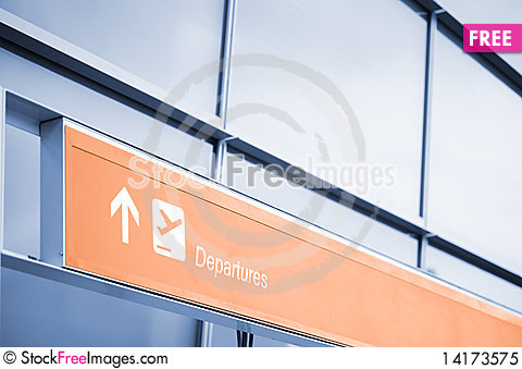 Free Departures Sign At The Airport Royalty Free Stock Photo - 14173575