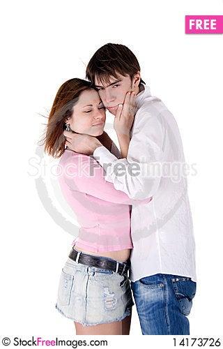 Free Romantic Couple Royalty Free Stock Image - 14173726