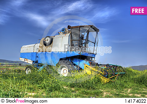 Free Combine Harvester HDR Stock Photography - 14174022
