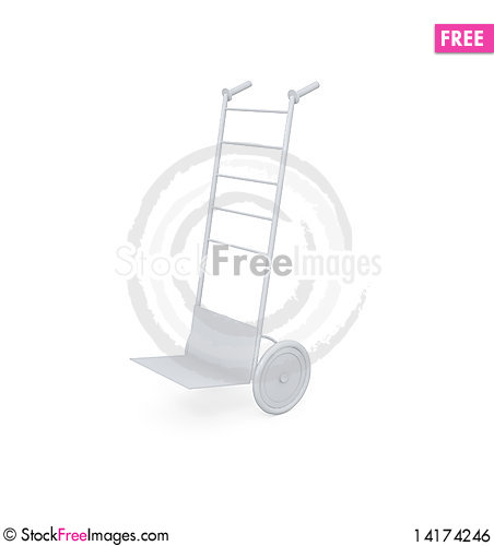 Free Hand Truck Isolated On White Royalty Free Stock Image - 14174246