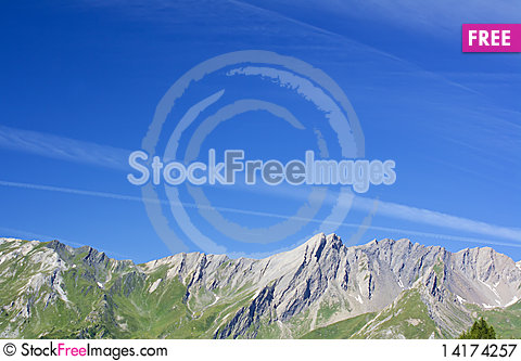 Free Mountain Landscape On Alps With Beautiful Panorama Royalty Free Stock Photography - 14174257