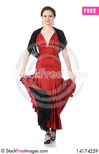 Free Beautiful Flamenco Dancer. Dancing Contest. Royalty Free Stock Images - 14174259