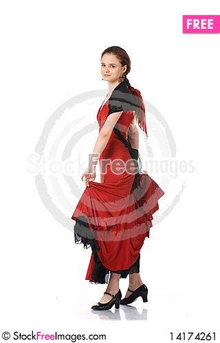 Free Beautiful Flamenco Dancer. Dancing Contest. Stock Image - 14174261