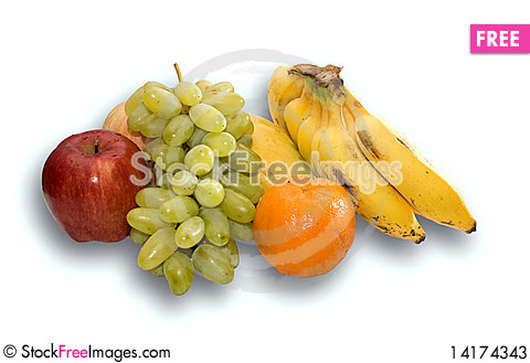 Free Fruits With Clipping Path Stock Photos - 14174343