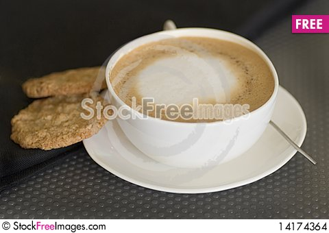 Free Cappuccinowith Cookies Stock Images - 14174364