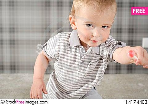 Free Boy With Lollipop Stock Photos - 14174403