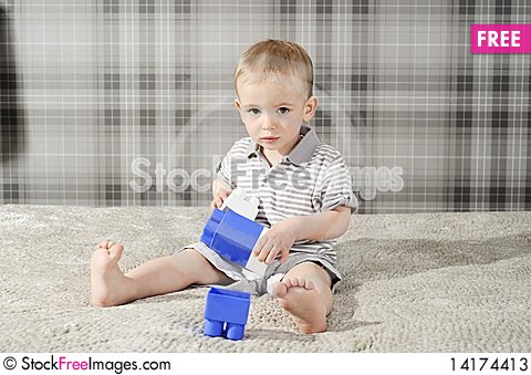 Free Boy With Toys Stock Photos - 14174413
