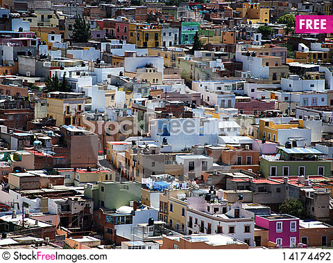 Free Homes In A Mexican City Stock Photography - 14174492