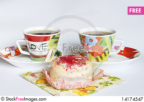 Free Coffee And Cake Royalty Free Stock Photography - 14174547