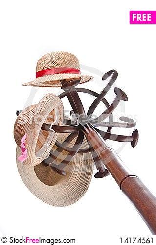 Free Three Hats On A Rack Stock Image - 14174561