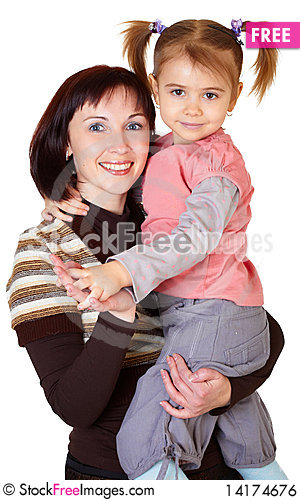Free Happy Mother With Little Daughter Royalty Free Stock Image - 14174676