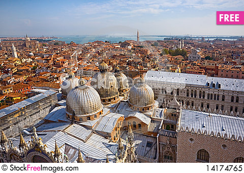 Free Panoramic View Of Venice Royalty Free Stock Photo - 14174765