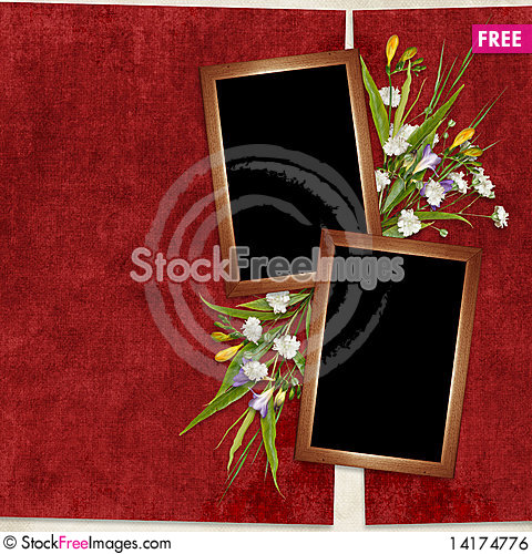 Free Card For The Holiday  With Flowers Royalty Free Stock Image - 14174776