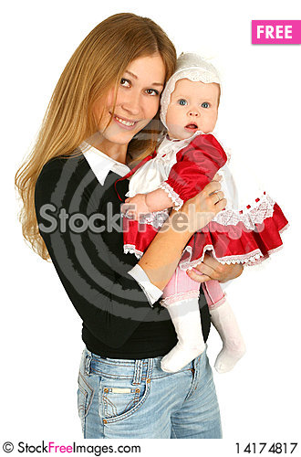 Free Young  Mother With Baby Girl Royalty Free Stock Photography - 14174817