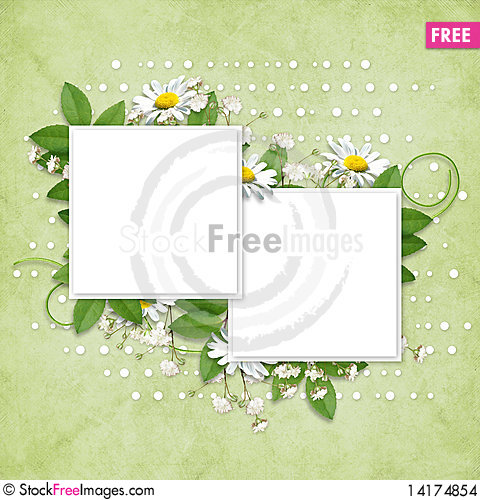 Free Card For The Holiday  With Flowers Stock Images - 14174854