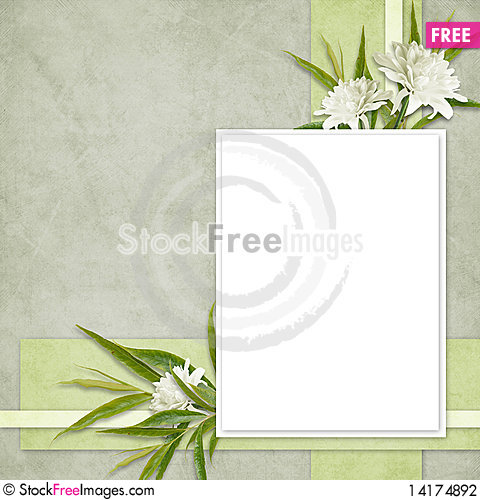 Free Card For The Holiday  With Flowers Stock Photography - 14174892
