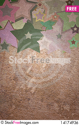 Free Star Grunge On The Paper Royalty Free Stock Image - 14174936