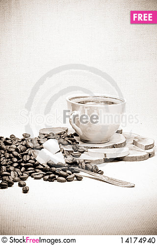 Free Black And White Of Coffee Stock Photo - 14174940