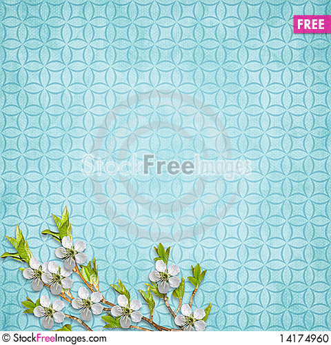 Free Card For Holiday With Flowers Stock Photo - 14174960