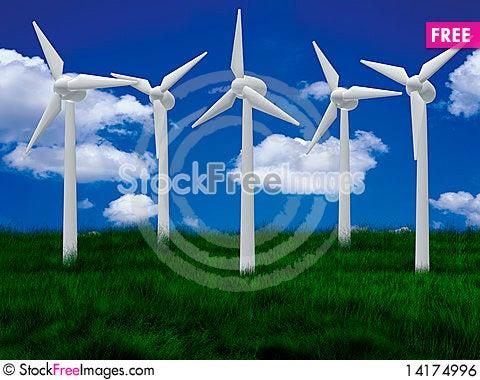 Free Wind Farm Royalty Free Stock Image - 14174996