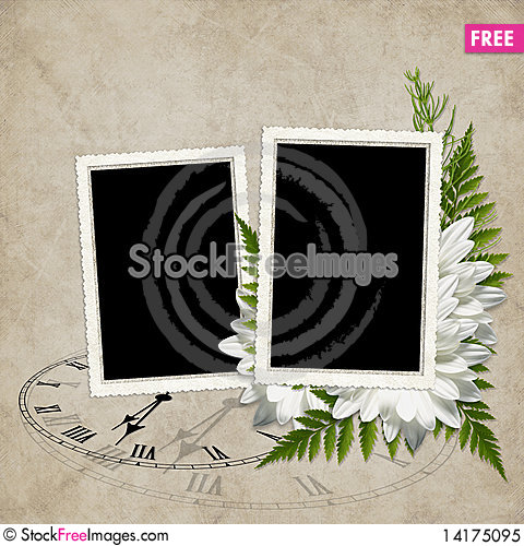 Free Card For The Holiday  With Flowers Royalty Free Stock Photo - 14175095