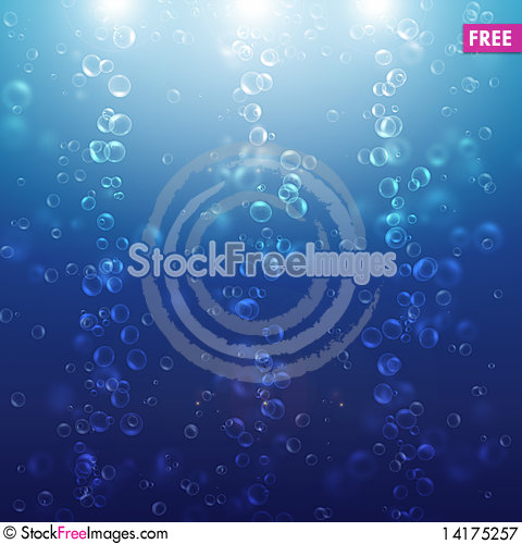 Free Air Bubbles Of Water Royalty Free Stock Photography - 14175257