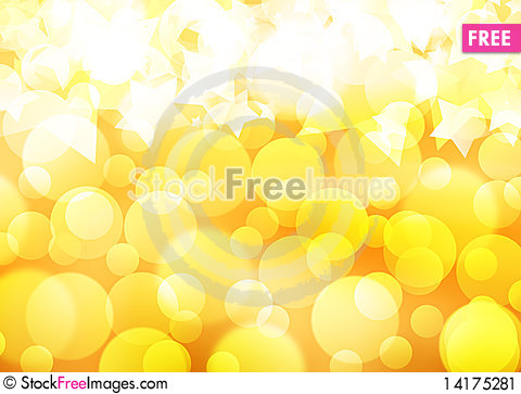 Free Golden Background Of The Bright Lights Stock Image - 14175281