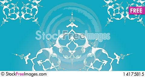 Free Traditional Ottoman Turkish Tile Illustration Royalty Free Stock Photo - 14175815