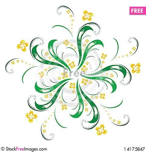 Free Floral Ornament Royalty Free Stock Photography - 14175847