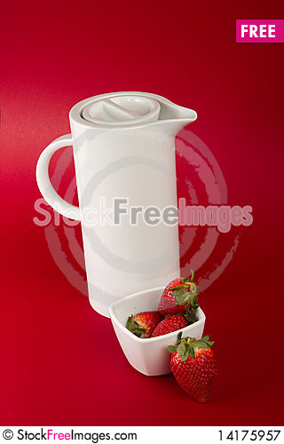 Free White Jug On Red Background Royalty Free Stock Photography - 14175957