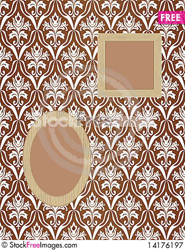 Free Framework For Photos On Wallpaper Royalty Free Stock Photography - 14176197