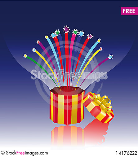 Free Colored Gift Box, Surprise Stock Photography - 14176222