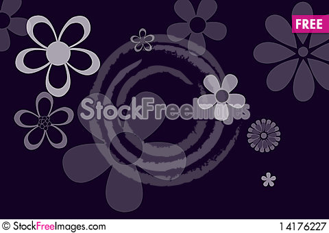Free Purple Background And Flowers Royalty Free Stock Photography - 14176227