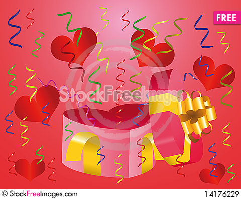 Free Pink Gift Box Royalty Free Stock Images - 14176229