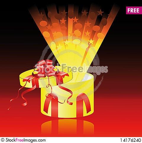 Free Yellow Gift Box, Surprise Stock Photo - 14176240