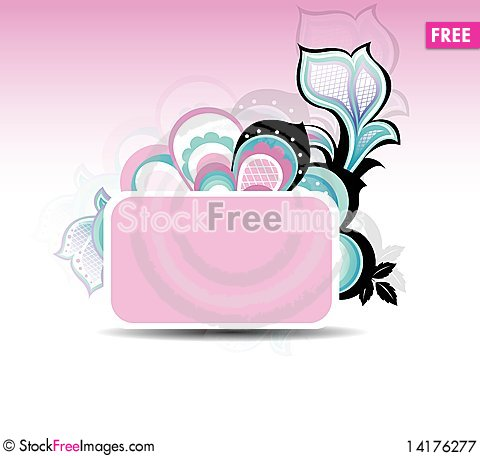 Free Colorful Floral Abstract Background Royalty Free Stock Photography - 14176277