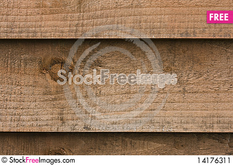Free Wooden Fence Panel Stock Image - 14176311